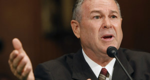 "FILE - In this July 17, 2007 file photo, Rep. Dana Rohrabacher, R-Calif., testifies on Capitol Hill in Washington, before the Senate Judiciary hearing on the prosecution of Jose Alonso Compean and Ignacio Ramos, two former Border Patrol agents imprisoned for shooting a drug smuggler in the backside as he sprinted toward Mexico. Rohrabacher's suggestion Friday, June 10, 2011, during a trip to Baghdad, that Iraq repay the United States for the money it has spent in the country has stirred anger, with an Iraqi lawmaker ridiculing the idea as ""stupid"" and others saying Iraqis should be compensated for the hardships they've endured.  (AP Photo/Gerald Herbert, File)"