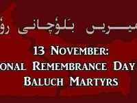 13 November:  Baloch Martyrs' Day