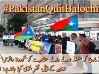 The slogan of – Pakistan Quit Balochistan